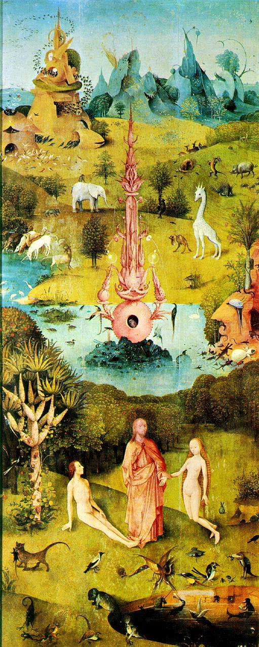 Hieronymus Bosch - The Garden of Earthly Delights - The Earthly Paradise (Garden of Eden)