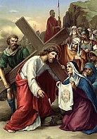 SIXTH STATION Veronica wipes the face of Jesus